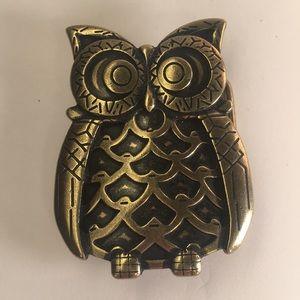 Vintage Brass Owl Belt Buckle
